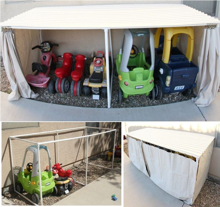 Simple Outdoor Storage Ideas To Organize Your Kids' Toys